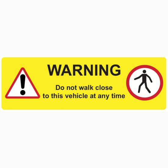 Pedestrian Safety - Curtain Vinyl Sticker