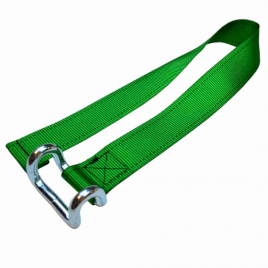 Light Green Lower Strap For Curtain Side Buckles